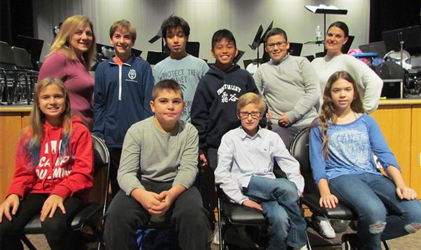 Middle School Student Council Members Elected