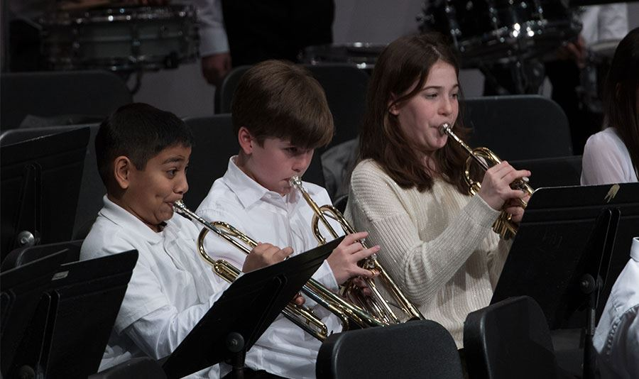 IMS, IHS Musicians Celebrate Accomplishments at Winter Band Concert